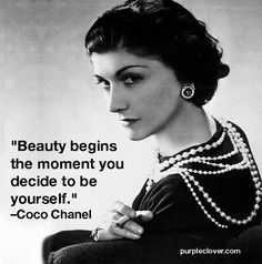 """Gabrielle Bonheur """"Coco"""" Chanel was a French fashion designer . She was born in Coco Chanel was a designer of women's clothes and founder of the Chanel brand Chanel Frases, Citations Chanel, Citation Coco Chanel, Coco Chanel Quotes, Moda Chanel, Chanel 5, Chanel Style, Perfume Chanel, Mademoiselle Coco Chanel"""