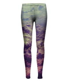 Another great find on #zulily! Purple Clouds Sublimation Leggings - Kids & Tween #zulilyfinds
