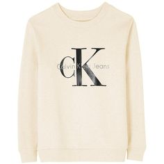 Calvin Klein Re-Issue Logo Sweatshirt (£90) ❤ liked on Polyvore featuring tops, hoodies, sweatshirts, oatmeal, retro sweatshirts, pink top, calvin klein sweatshirt, sweat tops and sweatshirts hoodies