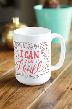 Words of empowerment to remind yourself to keep creating, keep growing. - Ceramic - Dishwasher and Microwave safe - Double sided print - 11 oz or 15 oz - White, glossy Processing time: 2-6 business da