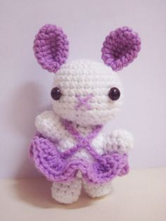 PETUNIA THE PURPLE BUNNY BALLERINA: Free Pattern
