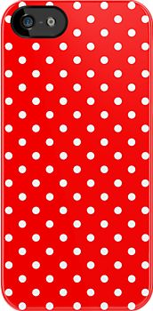 SOLD iPhone 5/5s Case Polka Dots Red and White! #Redbubble #iPhone #Case #Polka #Dots #Red #White http://www.redbubble.com/people/medusa81/works/9471800-polka-dots-red-and-white?p=iphone-case