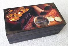 Small wooden box ideal for man  decoupage by MEGSWORD on Etsy