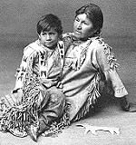 Algonquin Woman and Boy