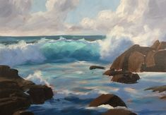 How to Paint a Dramatic Seascape in 5 Easy Steps Painting Lessons, Painting Tips, Painting Tutorials, Painting Techniques, Painting Art, Art Lessons, Online Lessons, Painting Videos, Watercolour Painting