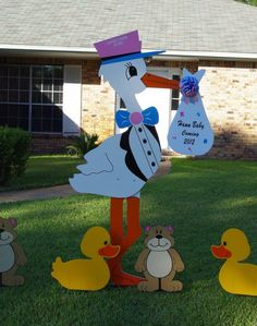 Stork Stories with Lucy Donnelly of Flamingo-A-Friend & Stork Deliveries ~ Pensacola, Florida ~ Stork Yard Sign Birth Announcements