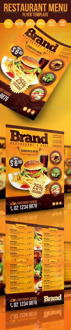 Restaurant Menu Flyer - Food Menus Print Templates Download here : http://graphicriver.net/item/restaurant-menu-flyer/3270438?s_rank=1433&ref=Al-fatih