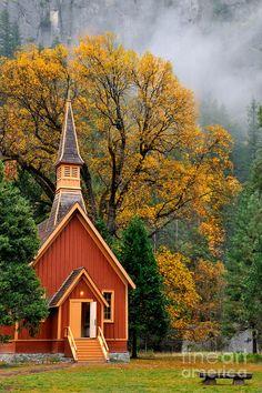 Yosemite chapel fall - Google Search