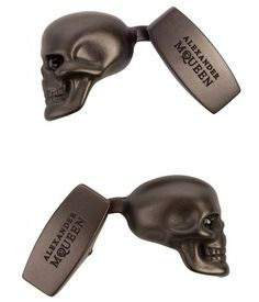 Skull Cuff Links via Alexander McQueen