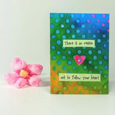 "$5 Colorful Quote Magnet   "" There is no reason not to follow your heart"""