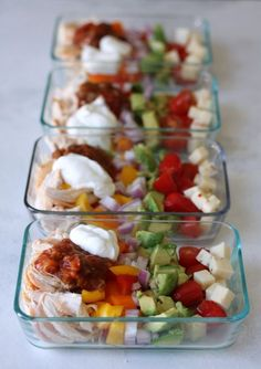 Simple meal prep bowls filled with all the flavors of a chicken burrito minus the carbs. Prepare on Sunday and enjoy all week! Summer is almost here and I know for many of us that means we're searching for easy no-cook recipes that are waistline friendly. If you're nodding yes then this low-carb burrito bowl …