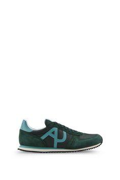 Armani Schuhe Für Ihn flache sneakers aus wildleder und funktionsgewebe
