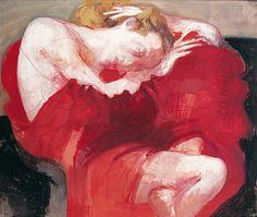 Arno Rink, Watercolor Pencils, Ballpoint Pen, Lovers Art, Contemporary Art, German, Painting, Judith, Daughter