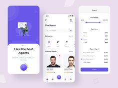 Agents Finding Mobile App by Sagor Shopon 🔥 for ITO Team on Dribbble Mobile App, Good Things, Learning, Garlic, Studying, Mobile Applications, Teaching, Onderwijs