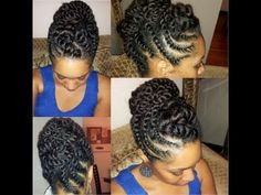 Need A Cute Protective Style? – 18 Flat Twist Updo Styles You Should Try [Gallery] - Need A Cute Protective Style? – 18 Flat Twist Updo Styles You Should Try [Gallery] Best Picture F - Updo Cabello Natural, Pelo Natural, Natural Hair Updo, Natural Hair Journey, Natural Hair Styles, Natural Updo Hairstyles, Simple Hairstyles, Flat Twist Updo, African Hairstyles