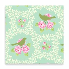$8.50 per 1/2yard Mockingbird by Heather Bailey.  Perfect for pillows in the new LVR!!!