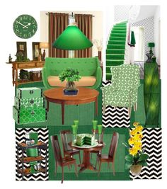"""""""Greeny"""" by yessynursanti ❤ liked on Polyvore featuring interior, interiors, interior design, home, home decor, interior decorating, Therapy, Kaleen, Sarreid and KitchenAid"""