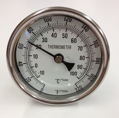 Weldless Probe Thermometer w/ Dial with Flat Washer