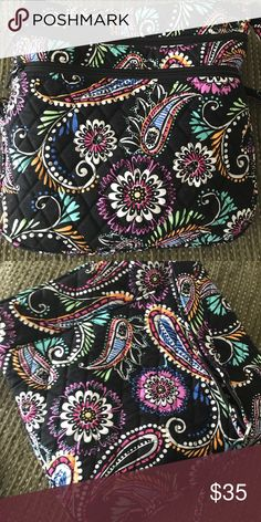Vera Bradley Triple Zip Hipster Used a handful of times! Perfect condition! No signs of stains or wear! Beautiful black background with multi-color paisley pattern. Called bandana swirl! Vera Bradley Bags Crossbody Bags