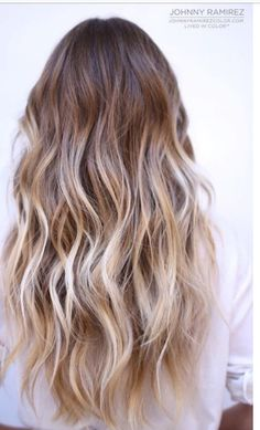 What is ombre hair color? The term ombre is a french language which means shaded or shading. Ombre hair color is typically darker at the roots through the mid. Blond Ombre, Ash Blonde Hair, Blonde Balayage, Icey Blonde, Balayage Hairstyle, Ombre Brown, Blonde Ombre Hair Medium, Long Blond Hair, Medium Balayage Hair
