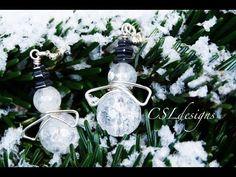 Easy wirework snowmen earrings   Christmas - YouTube