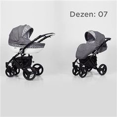 Kunert Mila kolica za bebe - crni ram, set 2u1 dezen 07