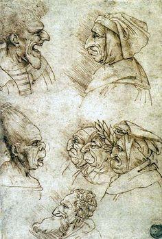 Francesco Melzi  Seven Charicatures  1515