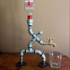 19 Greatest Wine Dispenser Fridge Wine Dispenser And Chiller Alcohol Dispenser, Liquor Dispenser, Pergola Attached To House, Deck With Pergola, Pergola Kits, Pergola Ideas, Pipe Decor, Diy Pipe, Metal Pipe