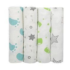 Muslin Swaddle BlanketiHomeiLife 47 x 47 Inch Baby Wrap Soft Cotton Receiving Blanket Sleeping Nursery Cover For Unisex Baby Shower Gift 4 Pack -- Click image for more details.