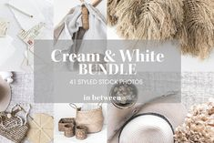 Cream & White Styled Stock Photos by in between details on @creativemarket