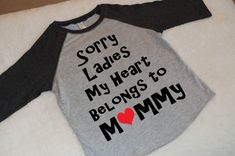 Boy's Valentines Shirt Baseball Raglan Tee. by MintElephantTeeCo