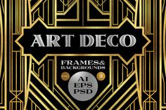 Check out 10 Frames Vol.2 - Art Deco Style by Cruzine on Creative Market