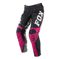 da3d937ed Fox CHEAP Mx Gear Black Pink Ladies Motocross Dirt Bike Off Road Womens  Pants