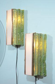 7fe086f3800 Max Ingrand  Brass and Glass Sconces for Fontana Arte