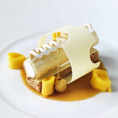 Bergamot lemon parfait by chef John Williams of The Ritz Restaurant from London #TheArtOfPlating