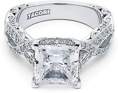 Engagement rings by Tacori feature the iconic crescent design. Each engagement ring is expertly handcrafted by our artisans in California and are custom made for your Tacori Girl. The details in a Tacori ring create stunning beauty from every angle. Tacori Engagement Rings, Designer Engagement Rings, Engagement Ideas, Twisted Princesses, Tacori Rings, Princess Cut Diamonds, Diamond Are A Girls Best Friend, Bridal Jewelry, Bling Jewelry
