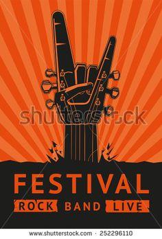 Rock Festival. Vector poster. - stock vector