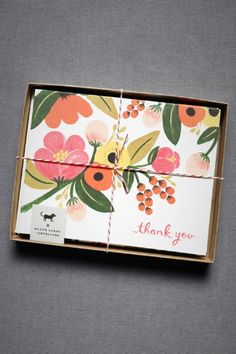 product | Pink Berry Thank You Cards from BHLDN  $18