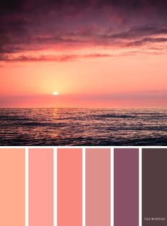 Orange and peach sunset inspired color palette , color scheme. Find wedding color inspiration for every season ,winter hues ,summer wedding color scheme,autumn wedding color palette,wedding color schemes inspired by landscape