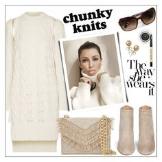 """Get Cozy: Chunky Knits"" by pat912 ❤ liked on Polyvore featuring MM6 Maison Margiela, Cynthia Rowley, Aquazzura, Bling Jewelry, Bobbi Brown Cosmetics, polyvoreeditorial and chunkyknits"