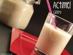 ¿Quieres preparar un actimel casero? Es tan fácil y sencillo que hasta los niños podrán ayudarte. Flan, Glass Of Milk, Yogurt, Fondant, Drinks, Cooking, Curiosity, Products, Recipes