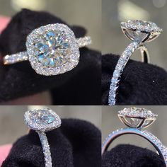 "107 Likes, 6 Comments - Joe Escobar Diamonds (@joeescobardiamonds) on Instagram: ""Cushion halo engagement ring   #cushionhalo #diamond #engagementring #engagement #platinum…"" #weddingring"