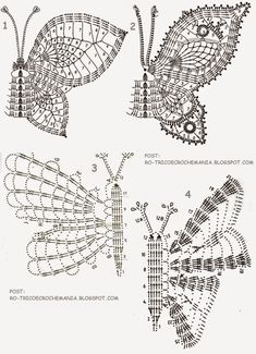 Irish Crochet Patterns, Crochet Diagram, Doily Patterns, Crochet Snowflakes, Crochet Doilies, Crochet Stitches, Crochet Tote, Crochet Purses, Crochet Butterfly