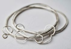 Julia Wright jewellery - inspired by forms seen in moss, linchen and bubbles
