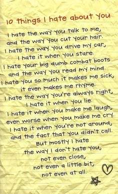 10 Things I Hate About You. One of my favorites