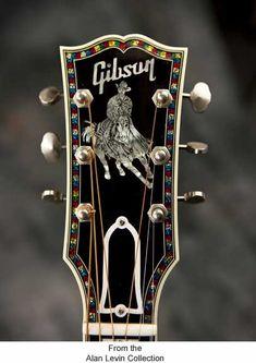 horse & rider Gibson guitar head