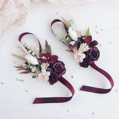 Excited to share this item from my shop: Blush Burgundy Flower wrist corsage, Fall wrist corsage, Bridesmaids wrist corsage, Fall weddings, flower bracelet Fall Wedding Flowers, Fall Flowers, Flower Bouquet Wedding, Wedding Colors, Wedding Day, October Wedding, Forest Wedding, Autumn Wedding, Wedding Tips