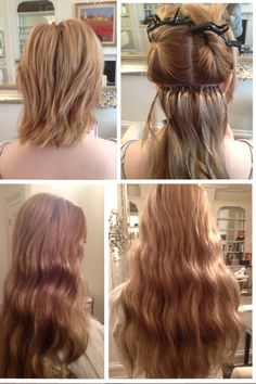 Before and After Monofibre Hair Extensions