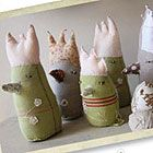Cute fabric chicks tutorial....could be made into other 'animals'http://www.selvedge.org/pages/crafts.aspx