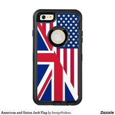 American and Union Jack Flag OtterBox Defender iPhone Case